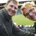 Our first Portland Thorns game. We don't dress nearly warm enough and leave halfway through, fighting hypothermia.
