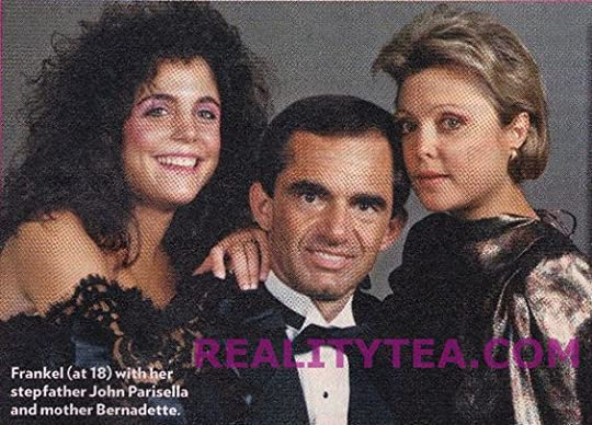 Bethenny with her parents when she was young and sporting a crazy '80s hairdo