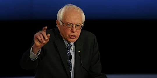 US Democratic presidential candidate Bernie Sanders participates in the PBS NewsHour Presidential Primary Debate with Hillary Clinton in Milwaukee, Wisconsin on February 11, 2016. / AFP / Tasos Katopodis (Photo credit should read TASOS KATOPODIS/AFP/Getty Images)