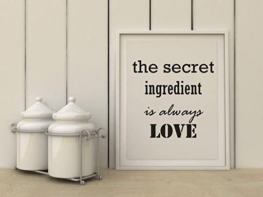 Motivation words the Sectei ingedient is always love. Happiness, family, home, cooking concept. Inspirational quote. Home decor wall art. Scandinavian style home interior decoration