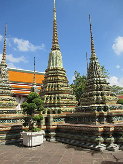 Chedis at Wat Pho in Bangkok, Thailand
