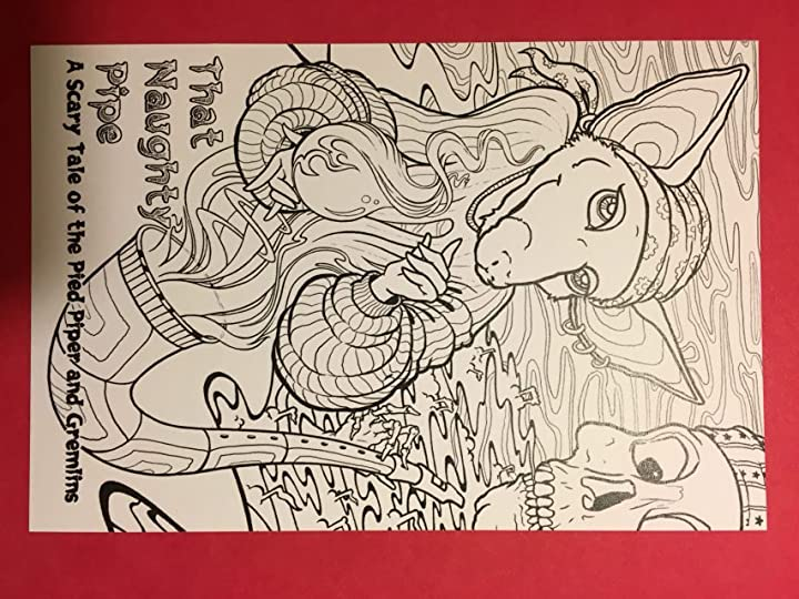 I wonder what this coloring book is about? Oh! Back it.