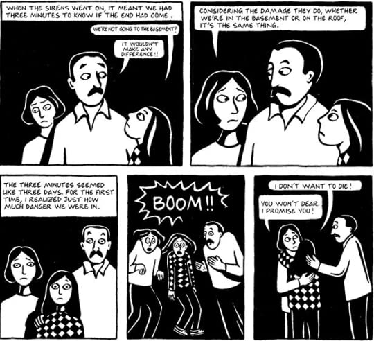 change in marji persepolis At the beginning of the semester in arts studies, we read and discussed the book, persepolis by marjane satrapi in this graphic memoir, marji (a younger version of.