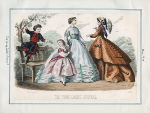 The Young Ladies' Journal Monday, May 1, 1865 v. 44, plate 107