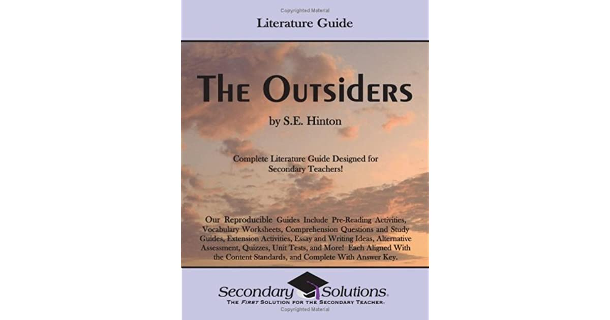 The Outsiders By Se Hinton Literature Guide By Kristen Bowers