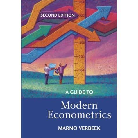 Verbeek A Guide To Modern Econometrics Pdf