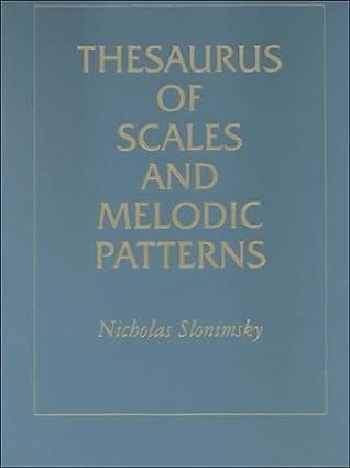 Thesaurus der Skalen und melodischen Muster