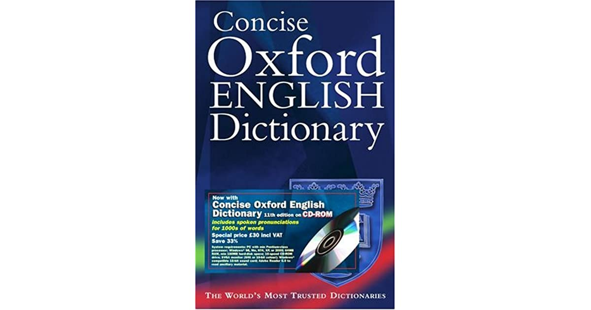 Concise Oxford English Dictionary with CDROM by Oxford