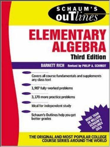 Outline of elementary algebra