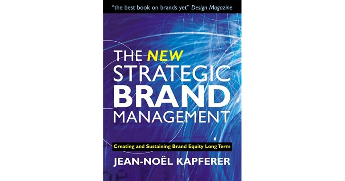 Strategic Brand Management Book