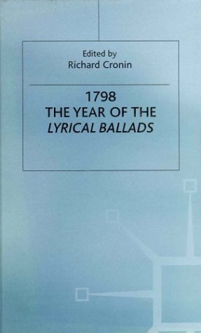 1798: The Year of the Lyrical Ballads