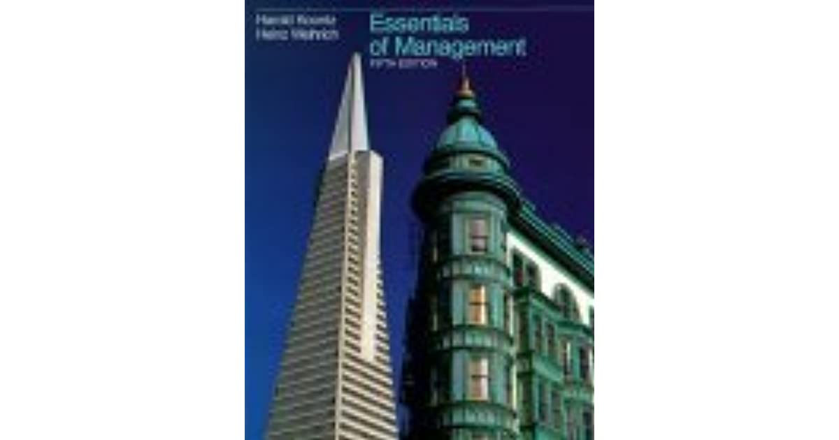 Koontz Principles Of Management Ebook
