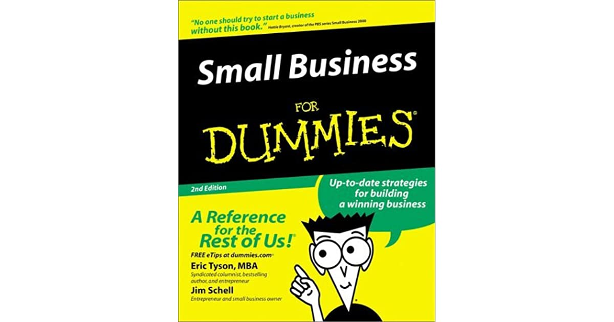 Small Business For Dummies By Eric Tyson
