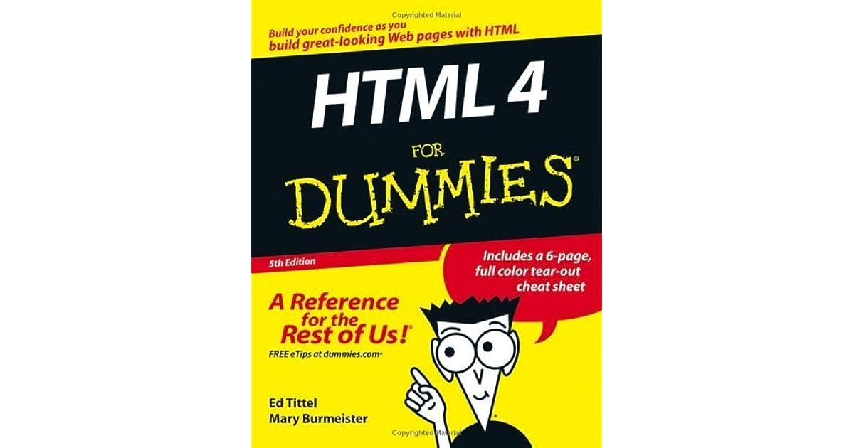 HTML 4 For Dummies (For Dummies (Computer/Tech))