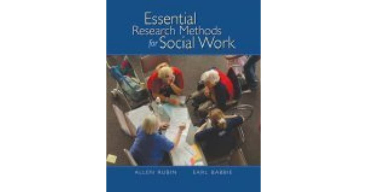 Essential research methods for social work by allen rubin fandeluxe Choice Image