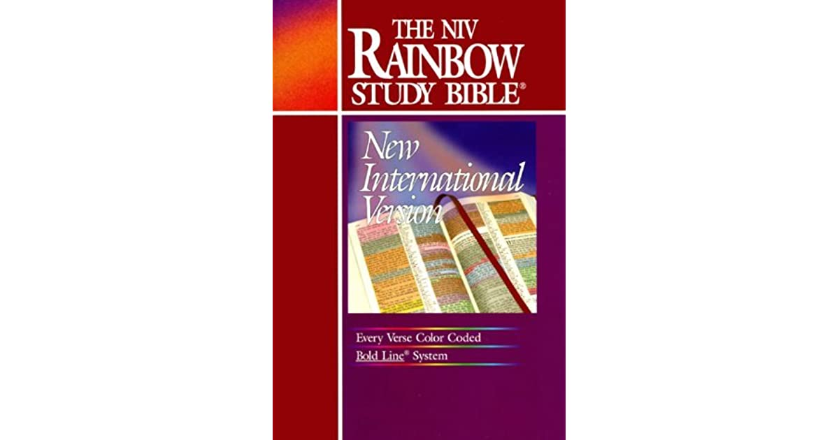 Holy Bible Niv Rainbow Study Bible By Anonymous