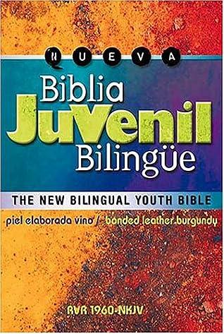 Biblia Juvenil Bilingüe: The New Bilingual Youth Bible - Piel Elaborada Vino Rvr 1960-nkjv