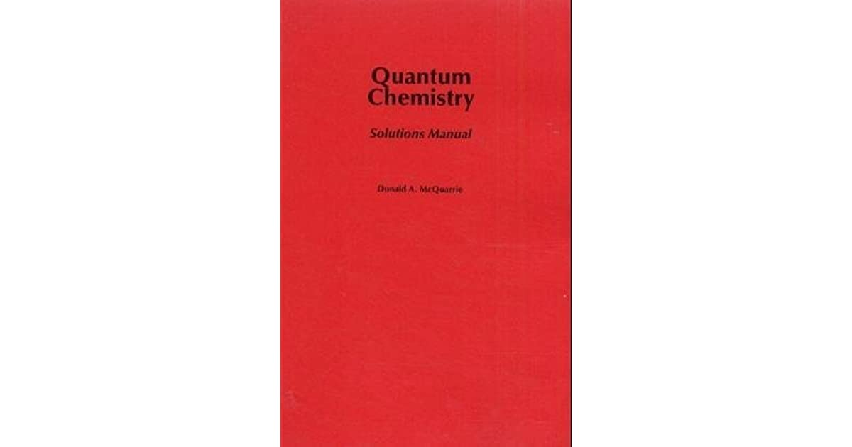 physical chemistry mcquarrie