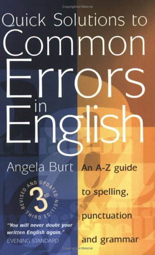quick solutions to common errors