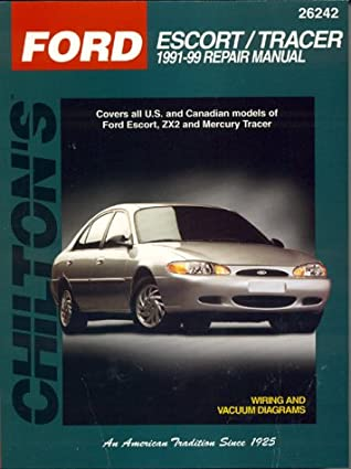 [WLLP_2054]   Ford: Escort/Tracer 1991-99: Covers All U.S. and Canadian Models of Ford  Escort and Mercury Tracer by Chilton Automotive Books | 1991 Mercury Tracer Diagram Wiring Schematic |  | Goodreads