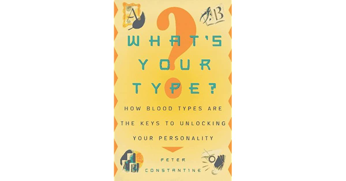 how to know your blood type by personality