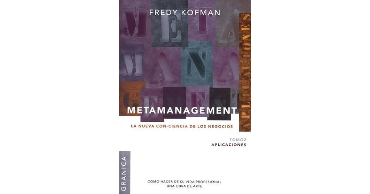 metamanagement fredy kofman pdf gratis