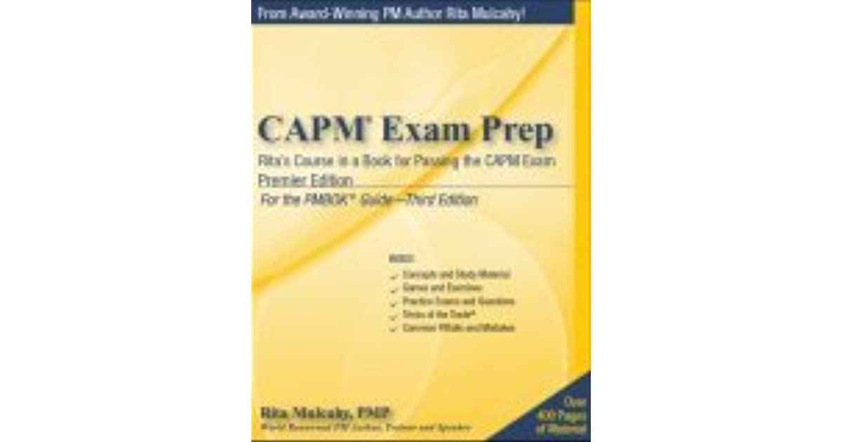 Pdf exam prep 3rd mulcahy rita capm edition