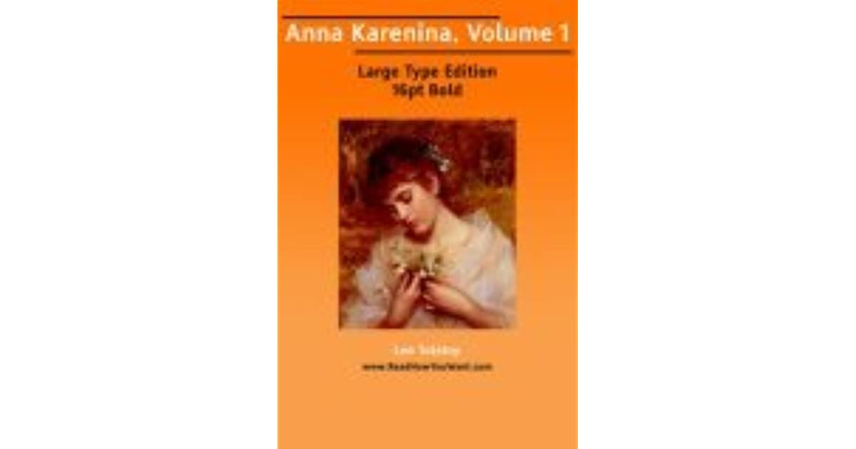 Anna Karenina Vol 1 Of 8 By Leo Tolstoy