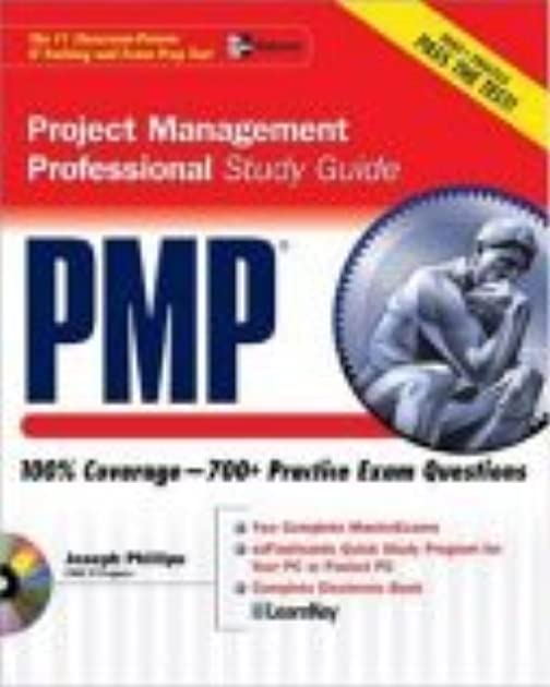 pmp project management professional study guide by joseph phillips rh goodreads com 30 Days Study Guide PMP PMP Study Questions
