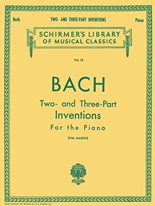 30 Two- And Three-Part Inventions: Schirmer Library of Classics Volume 16 Piano Solo