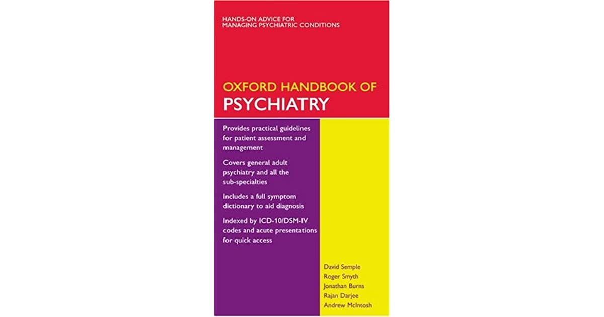 Oxford handbook of psychiatry by david semple fandeluxe Image collections
