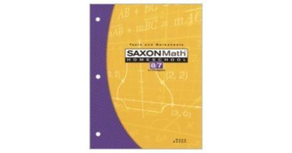 Saxon Math Homeschool 8/7 With Prealgebra: Tests And Worksheets by ...