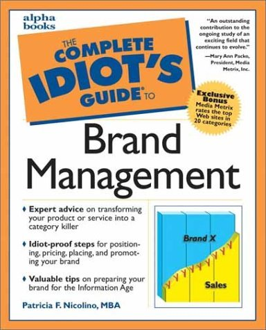 Book cover Complete Idiot's Guide to Brand management