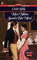 Miss Milton Speaks Her Mind