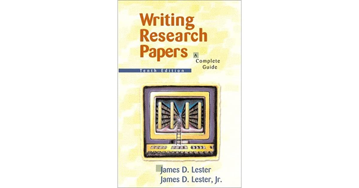 writing research papers by lester lester 14th edition