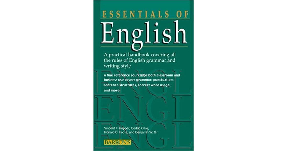 Essentials of English Essentials of English by Vincent