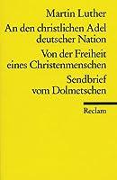 An Den Christlichen Adel Deutscher Natio