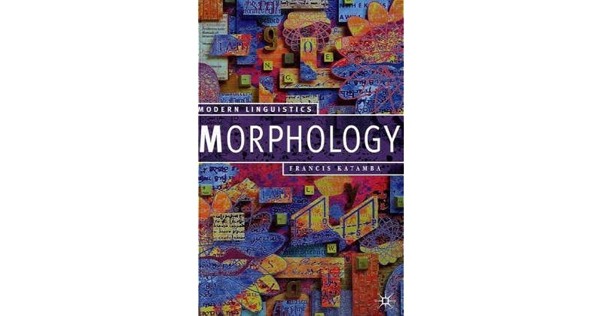 Morphology Francis Katamba Pdf