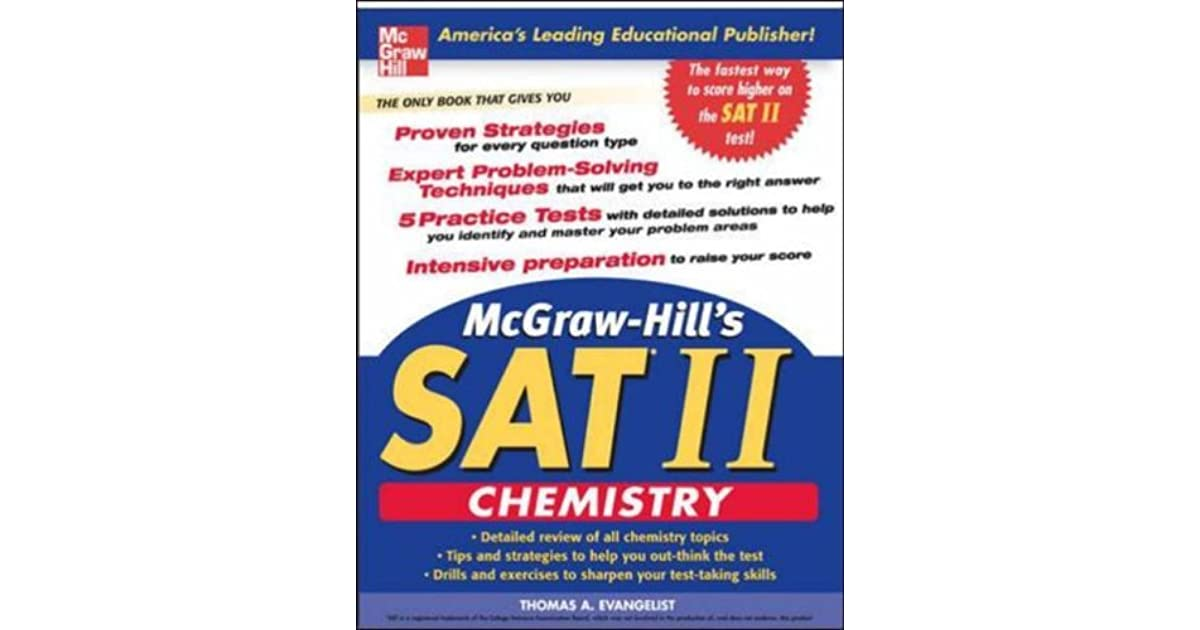 McGraw-Hill's SAT II: Chemistry by Thomas A  Evangelist