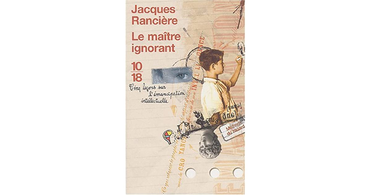 RANCIERE LE MAITRE IGNORANT PDF DOWNLOAD