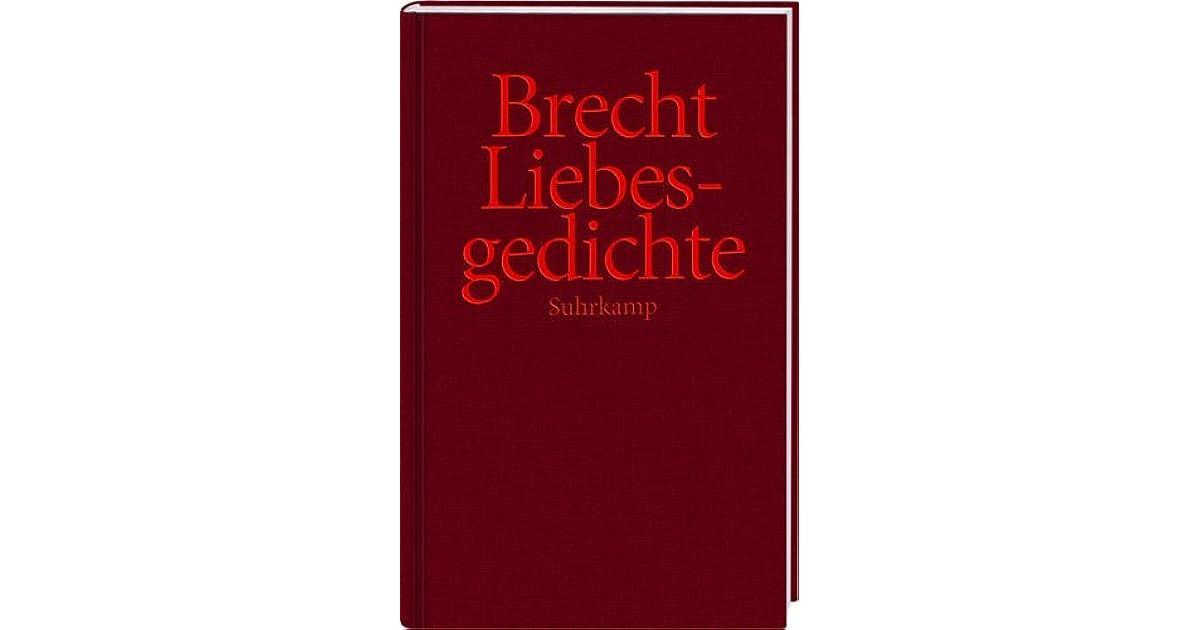 Liebesgedichte By Bertolt Brecht