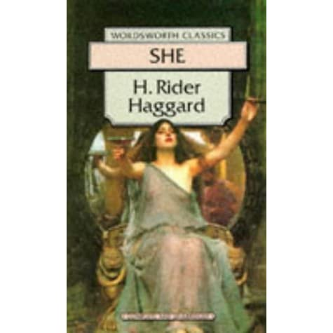 she by h rider haggard and things 1887 she: a history of adventure h rider haggard haggard, henry rider (1856-1925) - english novelist best known for his romantic adventure novels written against south african backgrounds.