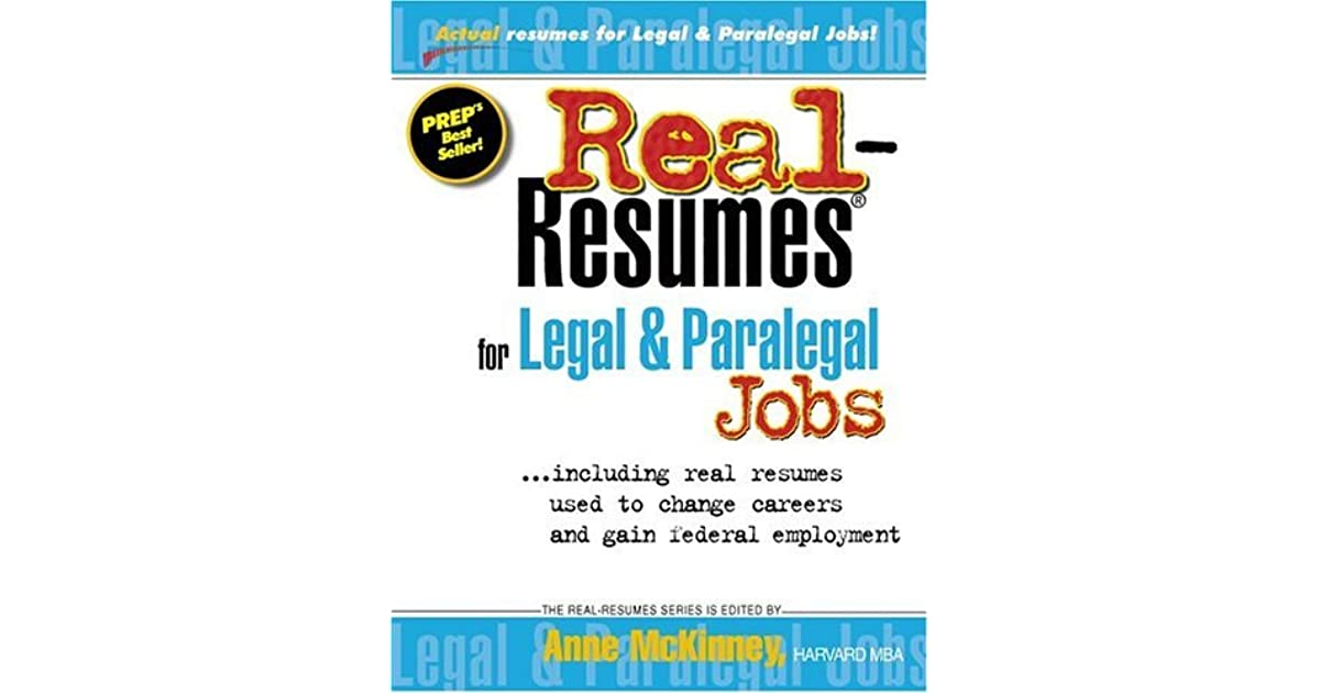 Real Resumes For Legal Paralegal Jobs Including Real Resumes