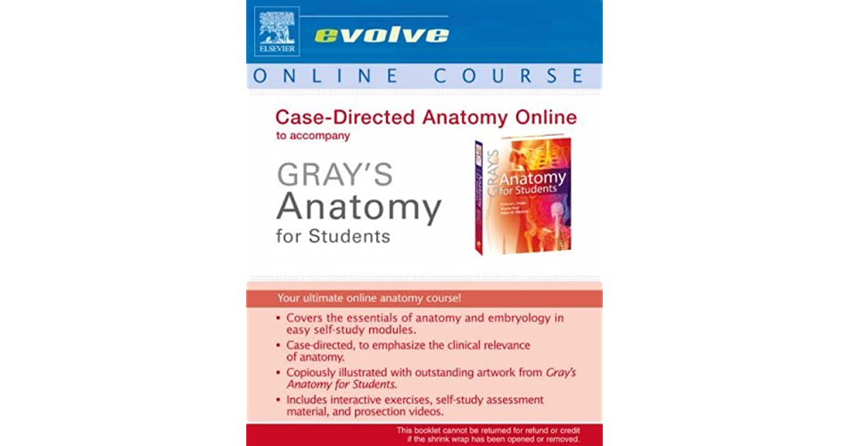Case Directed Anatomy Online To Accompany \
