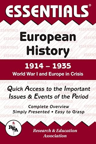 Essentials of European History, 1914-1935 : World War I and Europe in Crisis (Essentials)