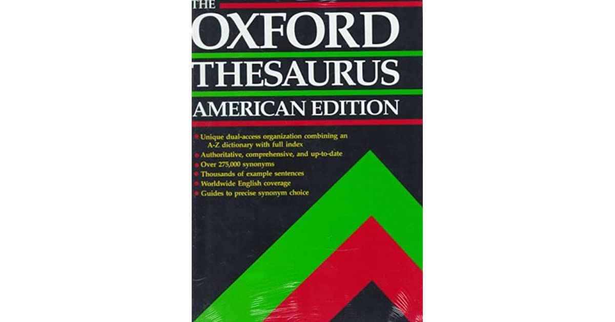 The Oxford Thesaurus: American Edition by Laurence Urdang