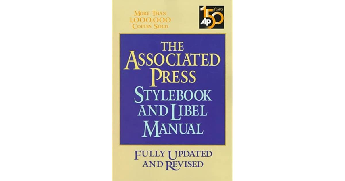 Associated press stylebook and libel manual by norm goldstein fandeluxe Choice Image
