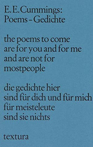 Poems Gedichte By Ee Cummings
