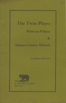 The Twin Plays by Jackson Mac Low