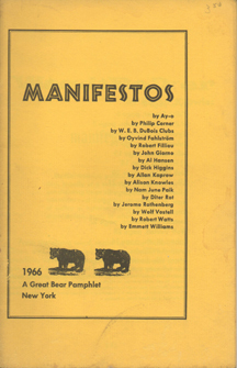 Manifestos by Dick Higgins
